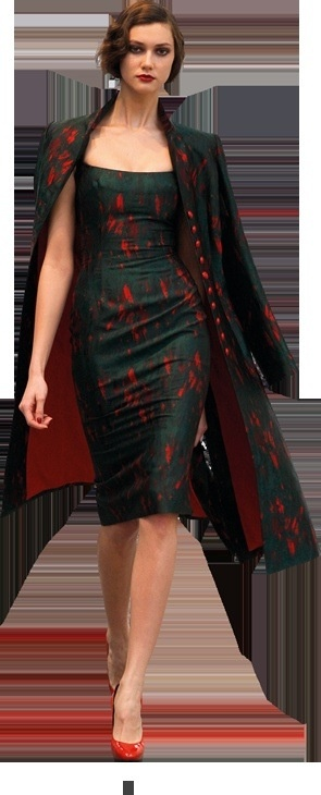 """They say: """"L'Wren Scott - Bois De Boulogne FW09""""  I say: Wow. Makes me want to quit my job and design dresses. Half way there!"""