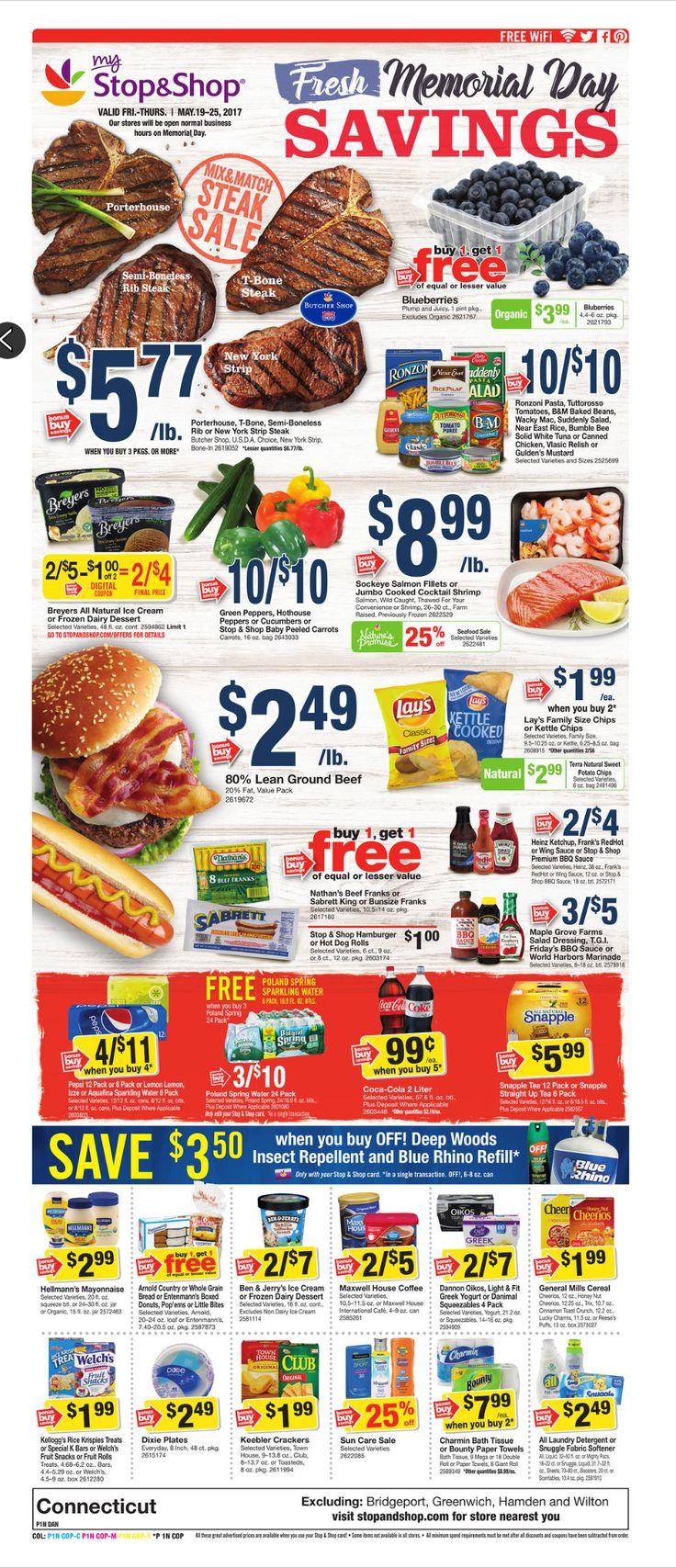 Stop and Shop Circular May 19 - 25, 2017 - http://www.olcatalog.com/grocery/stop-and-shop-circular.html