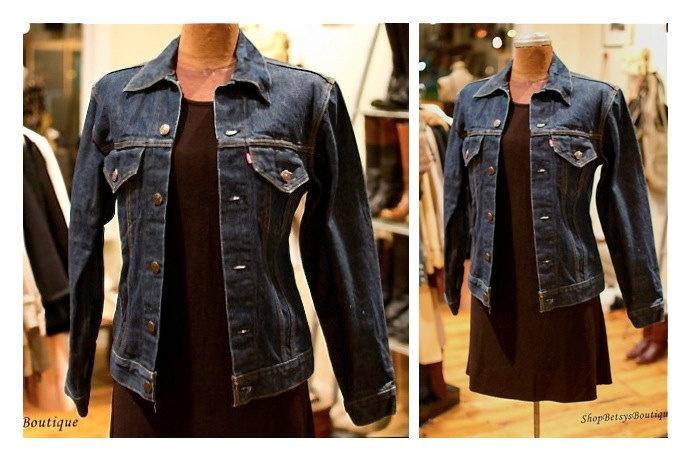1970s Levi's Dark Wash Jean Jacket Denim Blazer Levi's Jacket. $94.00, via Etsy.