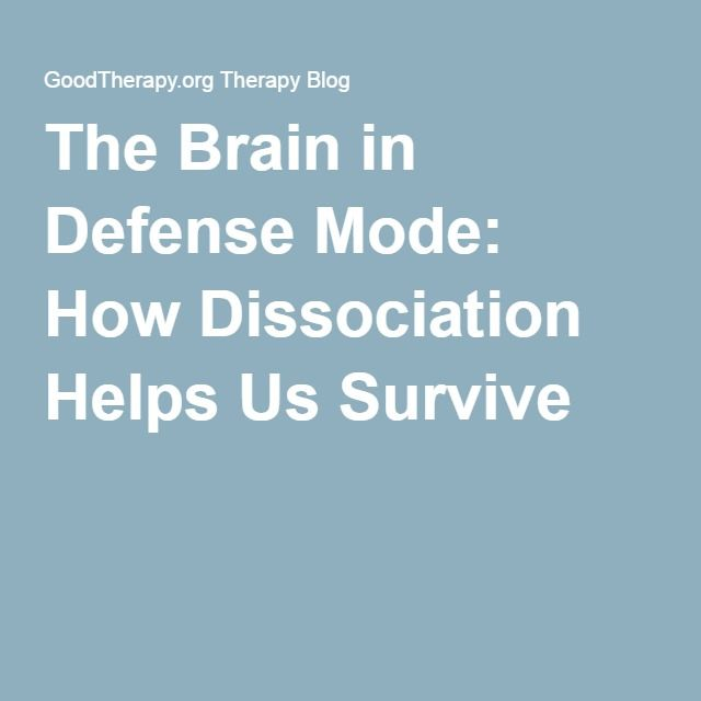 The Brain in Defense Mode: How Dissociation Helps Us Survive - The goal in therapy is not to eliminate dissociation completely, but rather to help the brain and body to update to the current circumstances. Specifically, this would include helping a person to integrate current information about the present circumstances in which they live. If no danger currently exists, helping the brain and body to learn how to be safe would be one part of treatment. Working toward being able to maintain…