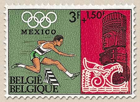 belgian stamps Olympic games Mexico 68. Steeple Chase