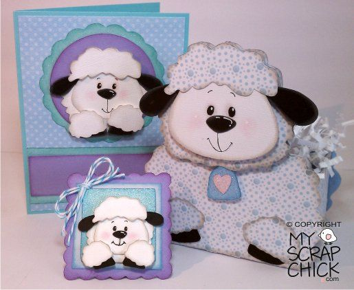 Trio of Lambs, from my scrap chick...sweet idea for a baby or easter..
