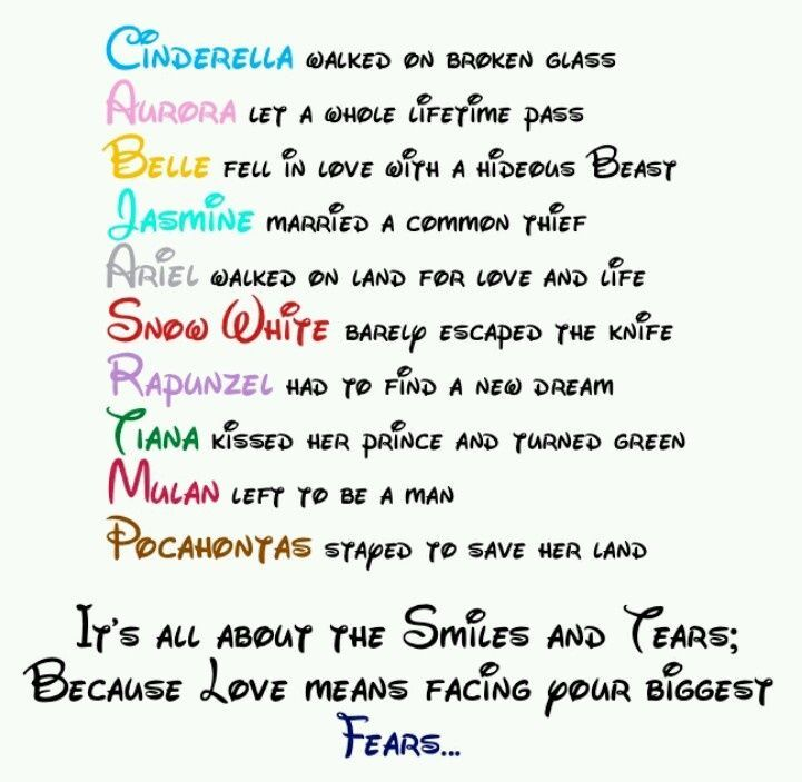 Disney Tattoo Disney Princess Couples Poem Disney Princess