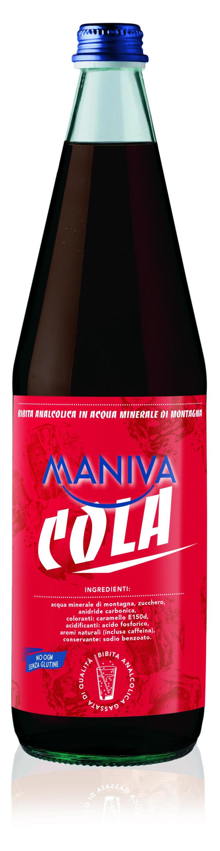 COLA Bibita analcolica frizzante, di alta qualità garantita anche dalla leggera acqua minerale di montagna di cui è composta