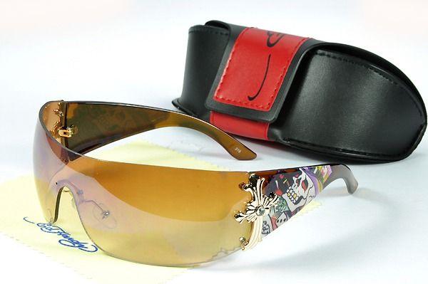Wholesale ED Hardy Gafas De Sol Goldenrod Brown
