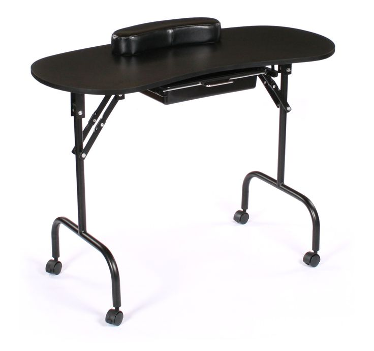 Urbanity black folding portable manicure table comes for Fold up nail table