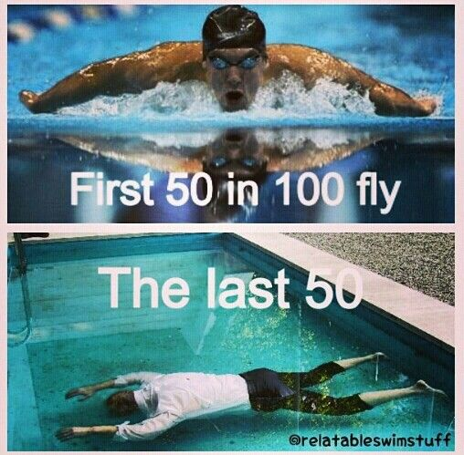 How a freestyler swims fly...