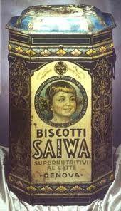 Scatola di latta biscotti saiwa