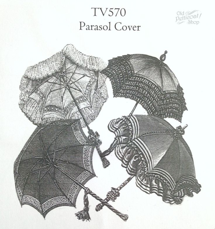 Truly Victorian TV570 Parasol Cover Pattern                                                                                                                                                      More