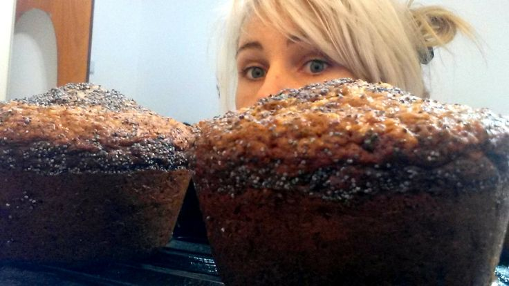 Giant Coconut, Banana & Oat Muffins with Poppyseed