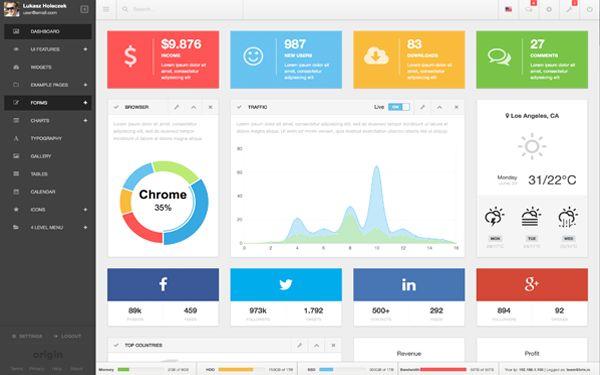 Origin Admin Responsive Webapp Dashboard Is A Fully