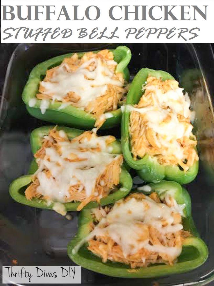 Buffalo Chicken Stuffed Bell Peppers Serves 4 Prep