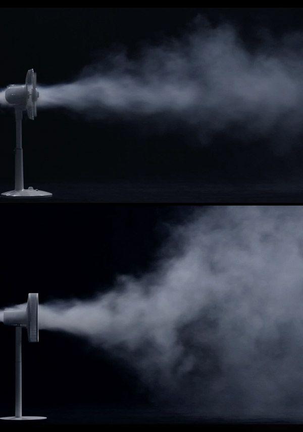 BALMUDA GreenFan Japan | グリーンファンの最大の特徴は、自然界と同じ面で移動する風。従来の扇風機とはまったく違う風です。