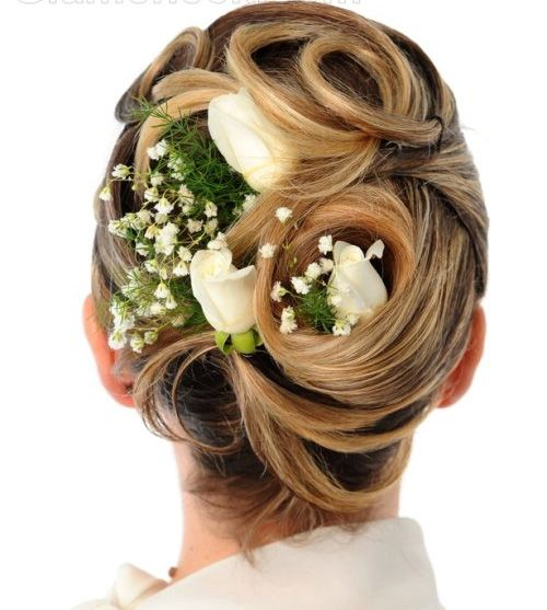 Wedding updo hairstyles are lovely hairstyles for lovely brides ...