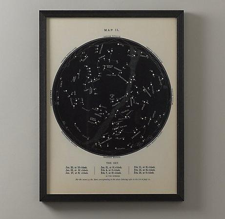 Night Sky Map: Night Skies, Restoration Hardware Baby, Space, Night Sky, Wall, Room