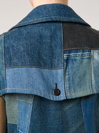 Junya Watanabe Comme Des Garçons patchwork flared denim dress