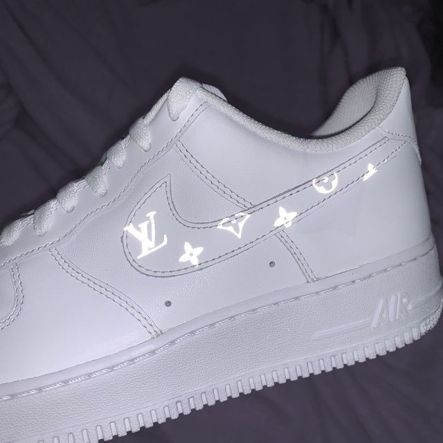 Reflective Louis Vuitton Pattern Nike Air Force 1 In 2020