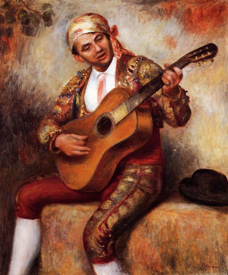 The Spanish Guitarist - Pierre-Auguste Renoir