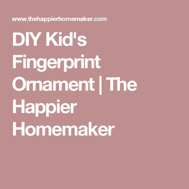 DIY Kid's Fingerprint Ornament | The Happier Homemaker
