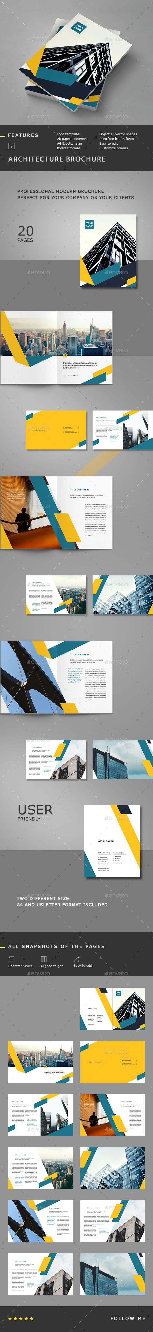 Architecture Brochure Template InDesign INDD #design Download: http://graphicriver.net/item/architecture-brochure/14155315?ref=ksioks