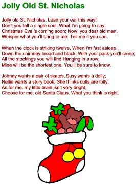 how to play jolly old saint nicholas