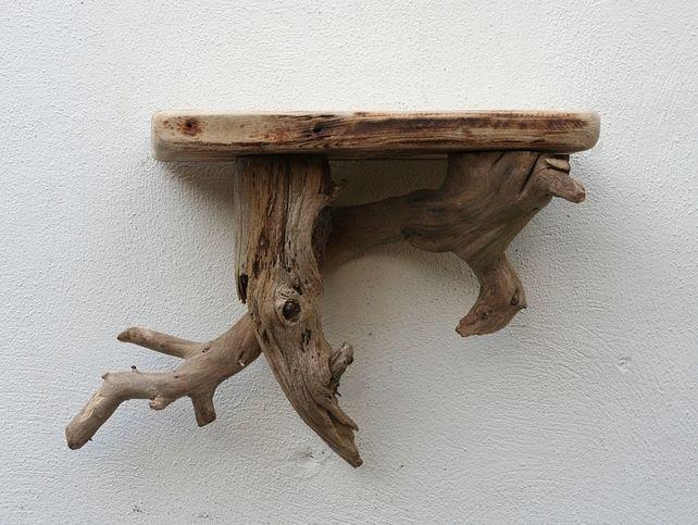Driftwood shelf drift wood shelves driftwood wall shelf for Driftwood wall shelves