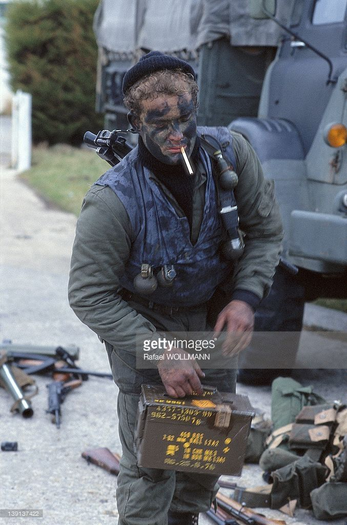An Argentine soldier with a cigarette on April 2, 1982 in Port Stanley…