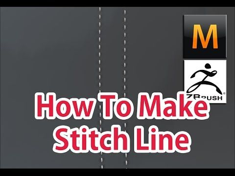 how to make Stitch Line. 3D Modeling (Marvelous Designer, Zbrush) - YouTube