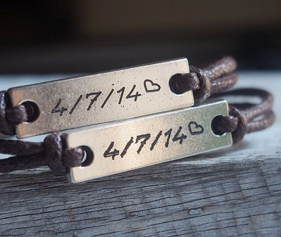 Couple date Bracelets, couples gift for couples, Custom bracelets for couples, anniversary date bracelet, personalized engraved couple bracelet | Personalized Bracelets | Custom Necklace | Wholesale craft supplies - Turntopretty