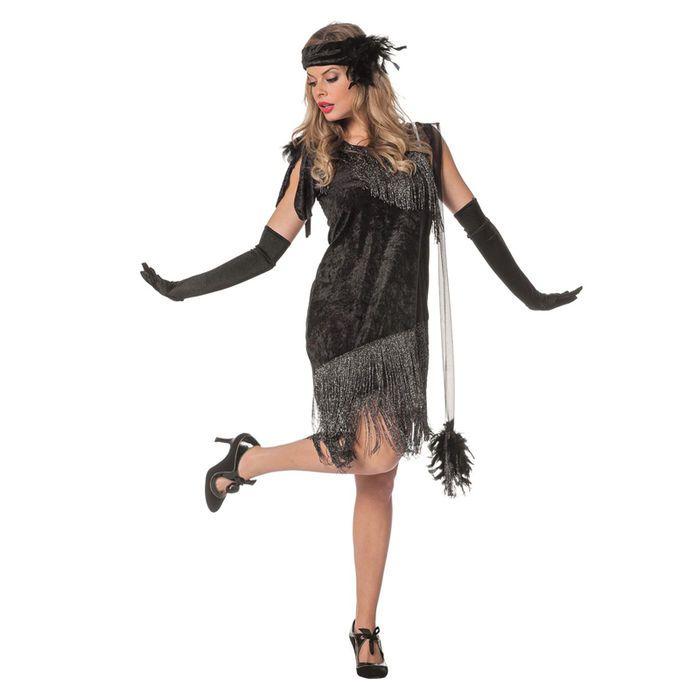 Smiffys Kostüm Charleston Kleid Damen rot Fasching//Karneval