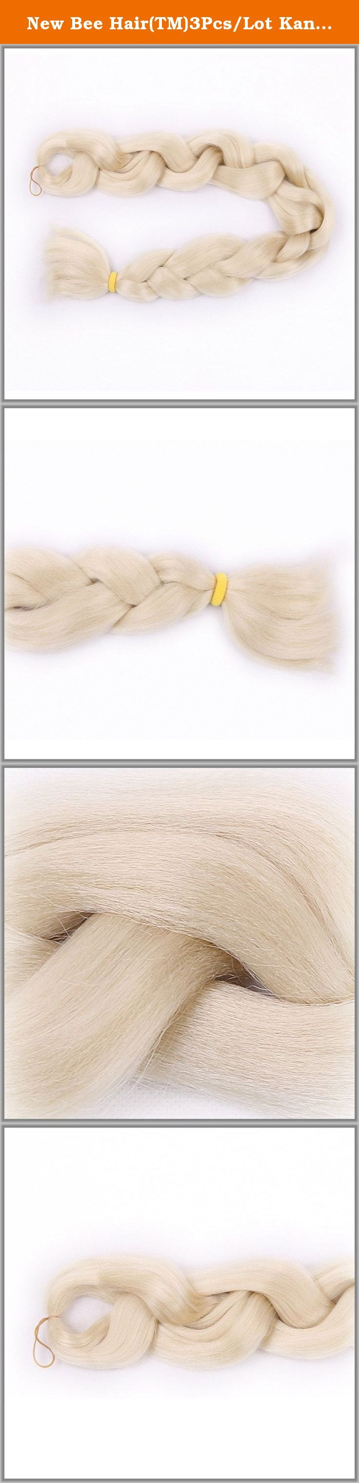 New Bee Hair(TM)3Pcs/Lot Kanekalon #613 Braiding Hair High Temperature Fiber Expression Braiding Hair 165g/Pcs Synthetic Braiding Hair Extension. WHY CHOOSE US ? Are you looking for high quality hair extensions? You are now making right decision to shop with us! New Bee Hair Extensions only offers high quality hair .We are a biggest hair products manufacturer in Xuchang City, which is the hair base in China. As a manufacturer more than 15 year,we have exported our hair products to many...