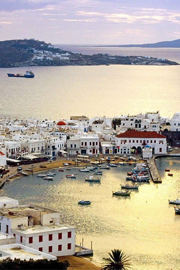 Mykonos Harbour, Greece http://www.yourcruisesource.com/two_chefs_culinary_cruise_-_istanbul_to_athens_greek_isles_cruise.htm