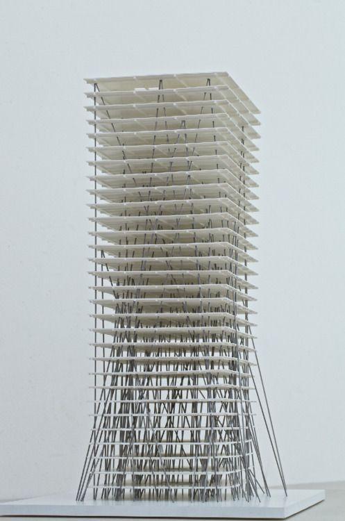 """archimodels: """"© christian kerez - tower II - zhengzhou, china - 2013 """""""