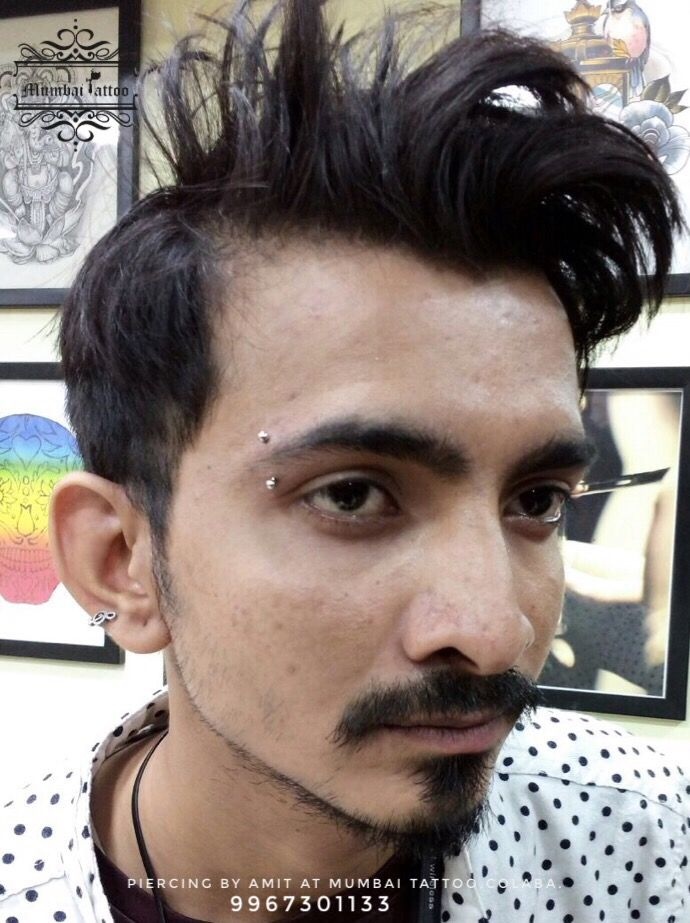 Eye brow piercing . @mumbaitattoocolaba  📲+919967301133 . . #piercing #eyebrowpiercing #bodypiercing #eyebrows #mumbai #piercingstudio #colaba