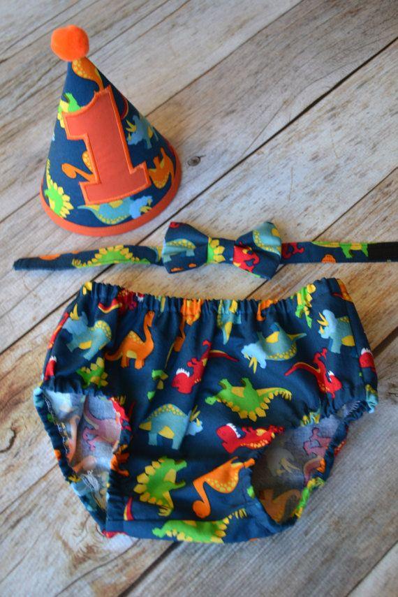 Boy Cake Smash Outfit Dinosaur Cake Smash Outfit by MyOrangeDreams