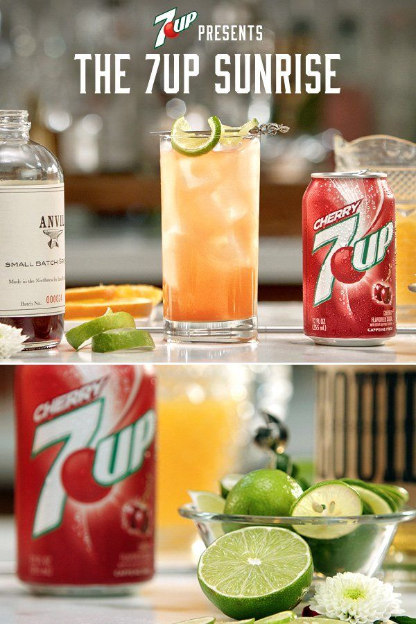 Mix up a 7UP Sunrise today. Mix freely, drink responsibly.
