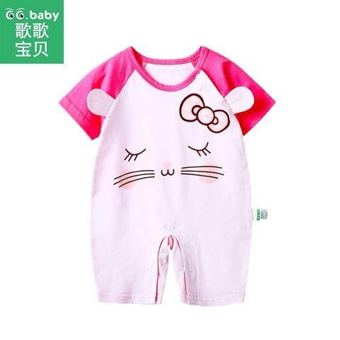 8e0b018d0911 Short Sleeve Baby Girl Newborn Baby Romper Infant Jumpsuit Summer ...