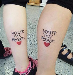 Matching Grey's Anatomy Tattoos for Sisters