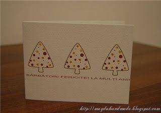 Felicitare de Crăciun MH013 / Christmas Greeting Card MH013
