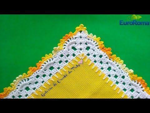 Barrado de Crochê com Canto #17 - YouTube