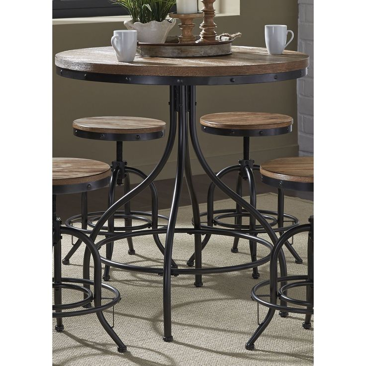 Elegant Weathered Grey Vintage Drafting Pub Table | Overstock.com Shopping   The  Best Deals On