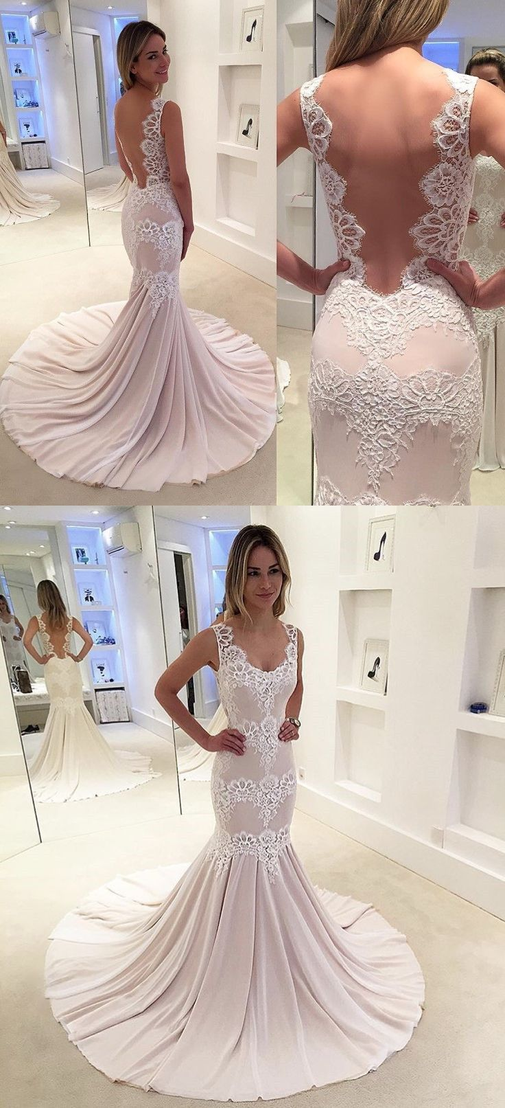 25b18c361408 mermaid prom party dresses with train, dreamy evening gowns with backless.