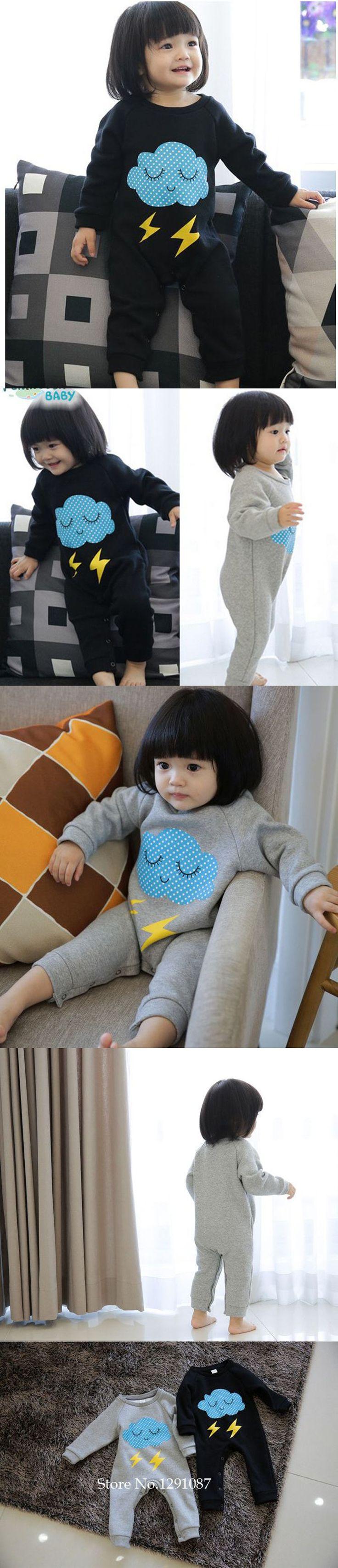 2016 New Spring Autumn Long-sleeved Baby Rompers Unisex Newborn Romper for Baby Infant Cotton Clothing Hot Roupa De Bebe Menino