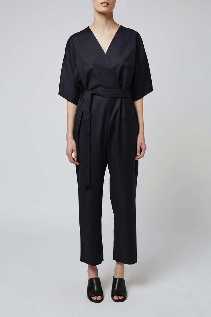 Wickel-Jumpsuit im Kimono-Stil