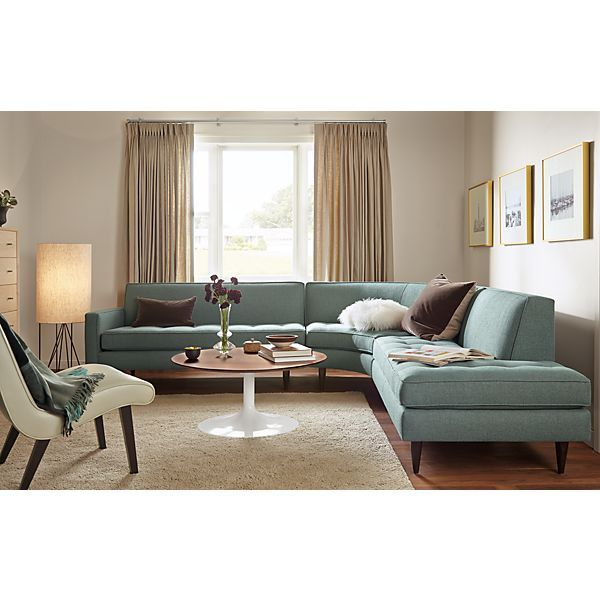 A Small Scale Sectional With Sophisticated Style, Reese Adds Refinement  With Details Like Button Tufting, Precise Welting And Tall, Tapered Legs.  Modern ...