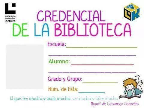 Credencial de la Biblioteca | Notas y anuncios | Classroom, School y ...