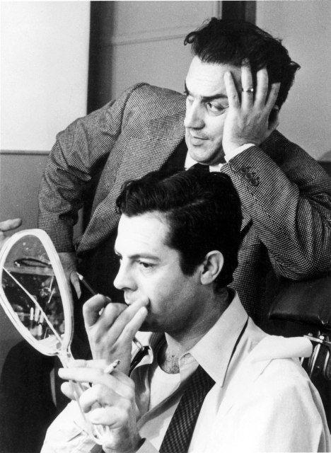 Marcello Mastroianni e Federico Fellini