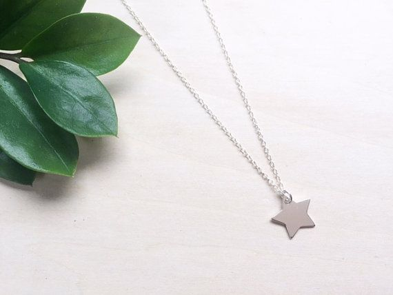 Star Necklace / Sterling Silver Star Necklace / by WildAboutFrank
