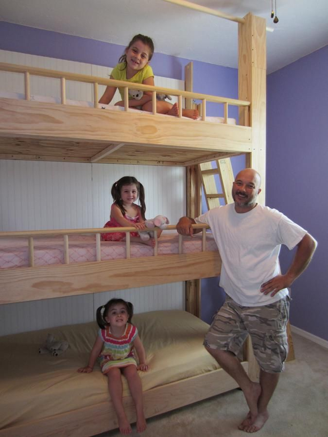 Custom-Made Triple Bunk Beds |