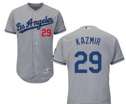 Los Angeles Dodgers #29 Scott Kazmir Gray Stitched Baseball Jersey